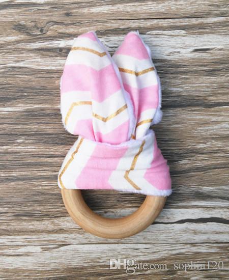 Infantil bebê Dentição Anel de dentes Tecido e De Madeira Dentição formação Rugas Material Dentro Brinquedo Sensorial Natural teether bell