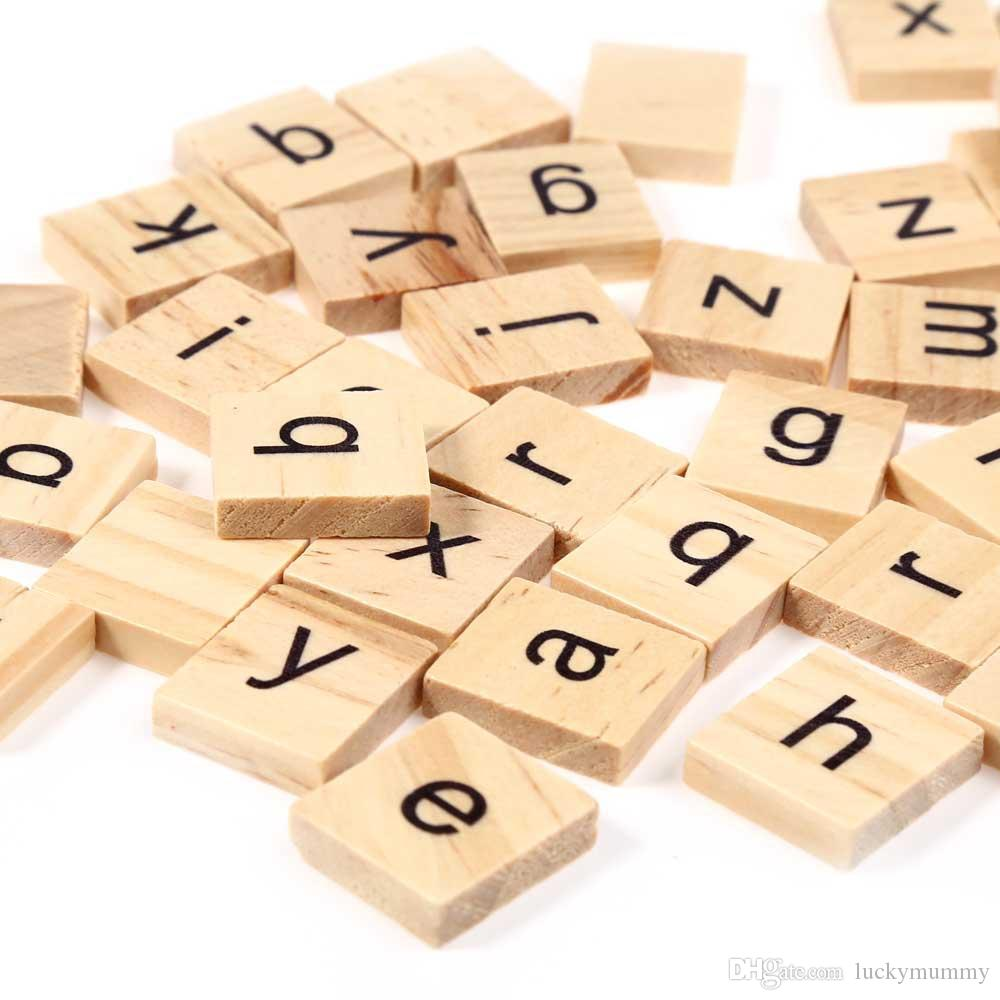 best wooden scrabble tiles lowercase letters board alphabet toy