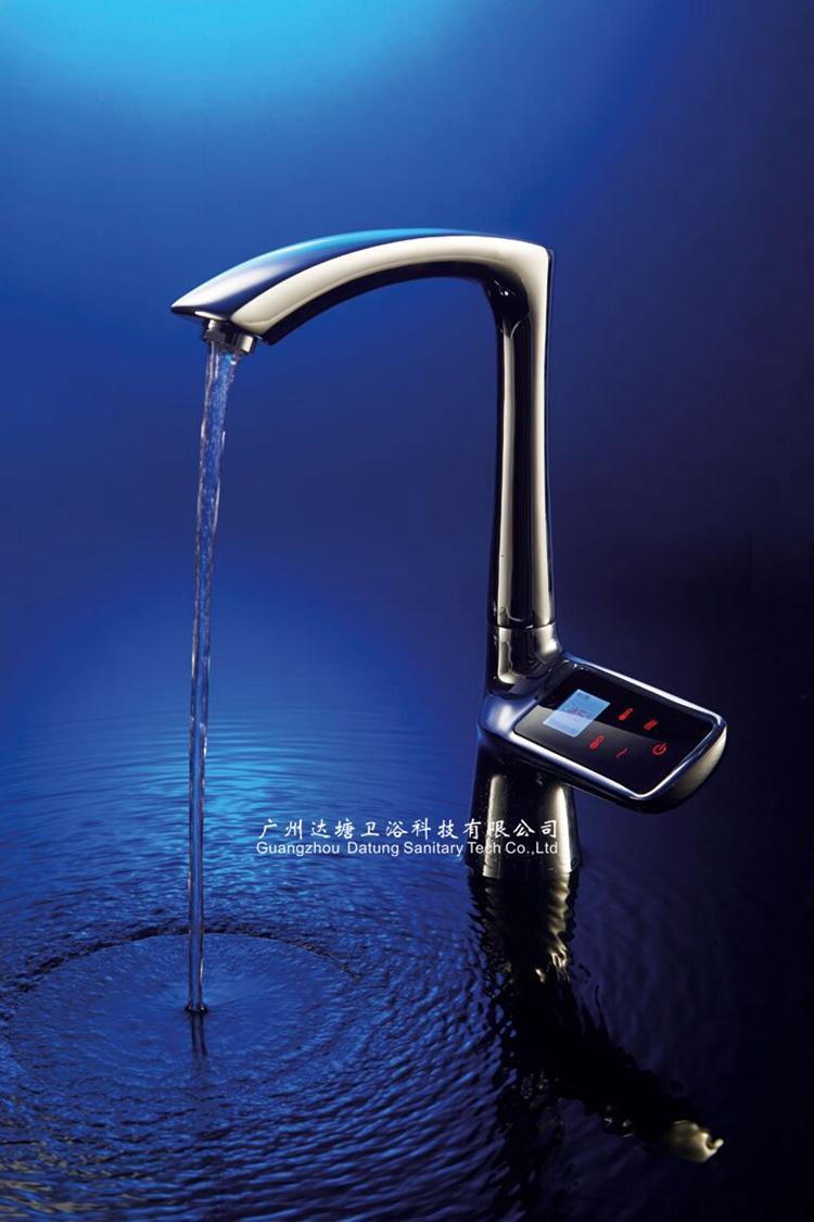 LCD-Berührungssteuerungsthermostat / Temperaturüberblickhahn / drahtloser coldhot Wasserhahn