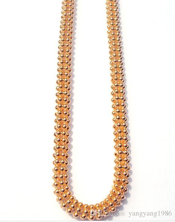 Collana in oro 18K CT Filled Uomo con rombo da 50 cm e collana pesante