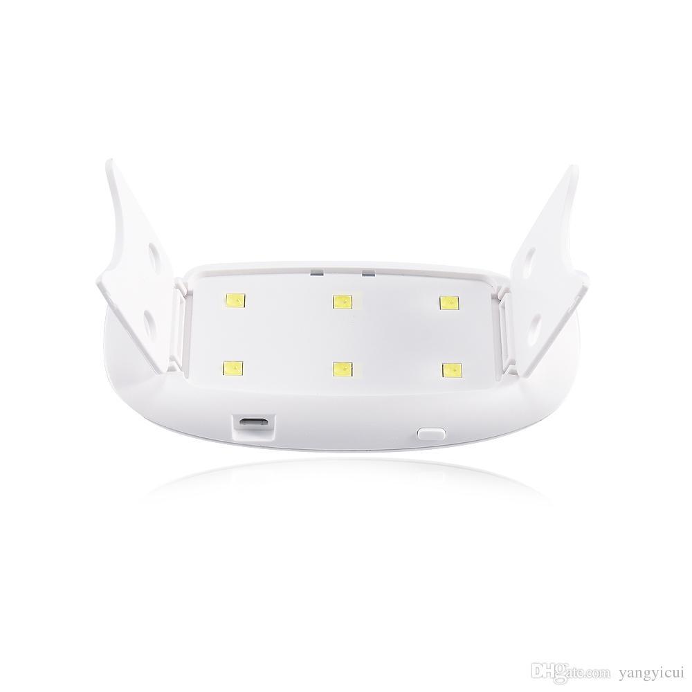 Мини 6 Вт светодиодный УФ-сушилка для ногтей Легкая лампа для лечения для светодиодных УФ-гель-лак для ногтей для ногтей USB-машина USB