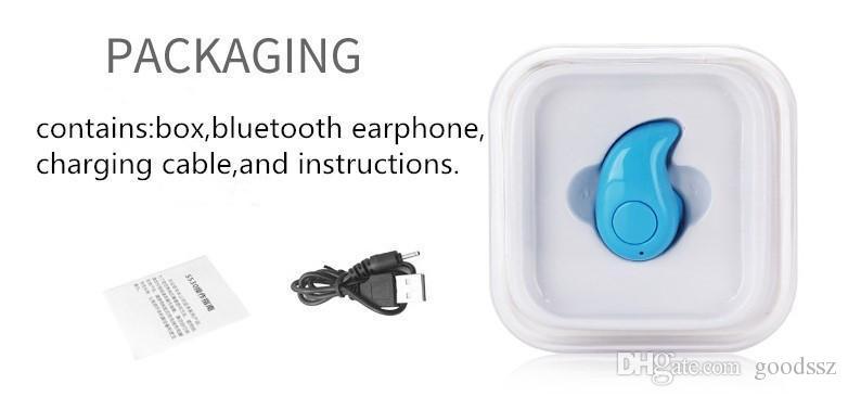 최고의 S530 미니 무선 블루투스 헤드셋 이어폰 핸즈프리 V4.0 보이지 않는 스테레오 헤드폰 MIC 음악 응답 전화 아이폰 7 삼성