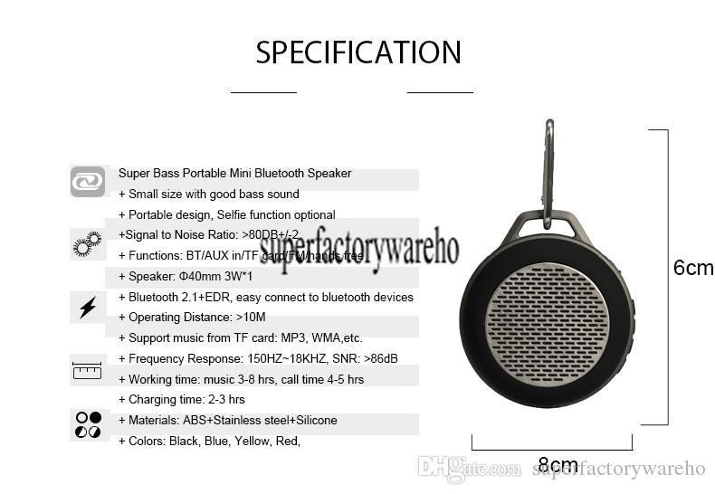 Мини Bluetooth беспроводной портативный музыкальный динамик открытый стерео громкой связи Lould колонки с FM-радио SOMHO S303
