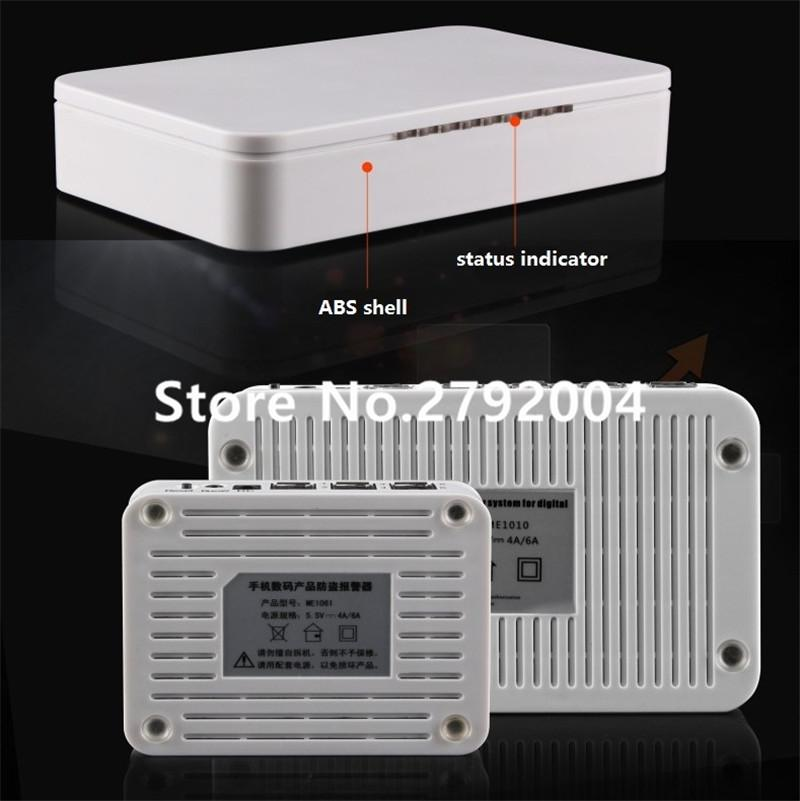 Wholesale- 6 ports Android iOS Cell Phone Security Alarm System Mobile Phone Retail Store Anti-theft Device with Acrylic Holders