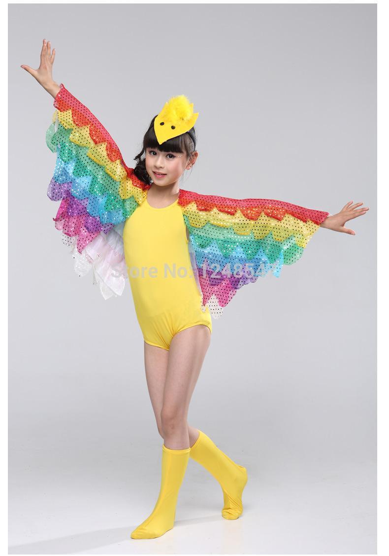 9d449d463afe 2016 Girls dance Costume Children Bird Animal Worm Costumes Girls Butterfly  Wings Performance kids modern ballroom dancewear