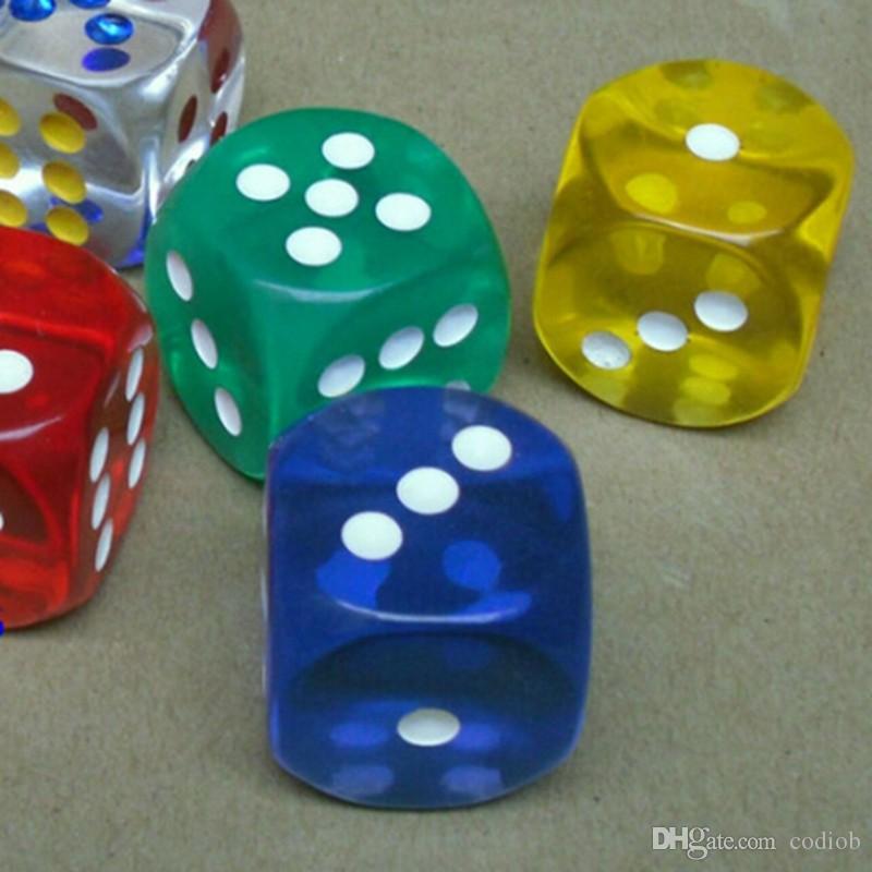 Большой размер Прозрачный 6 кубика Clear 25мм Кристалл Игры Dice партия Питьевой Game Entertainment Accessories Хорошая цена # R15
