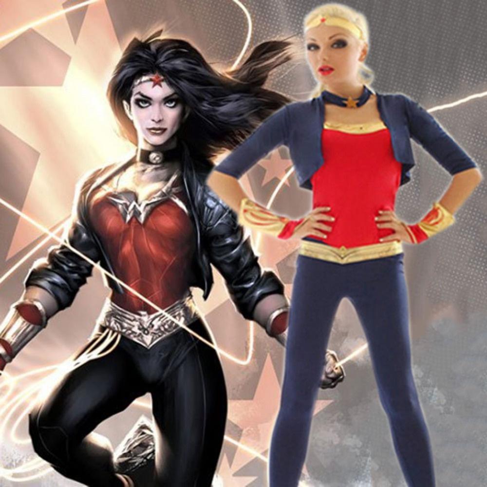 Batman vs Superman Wonder Woman Kostüm Diana Prinz Cosplay DC Superhero Serie Sexy Frauen Halloween Kostüme für Frauen