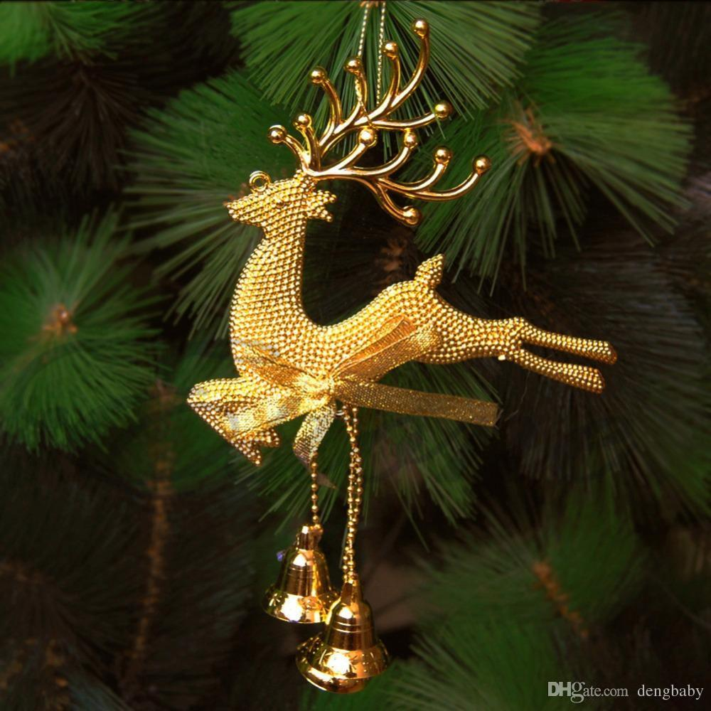 2018 new christmas decorations hot for xmas deer reindeer hanging decorations christmas tree baubles home decoration discount outdoor christmas decorations