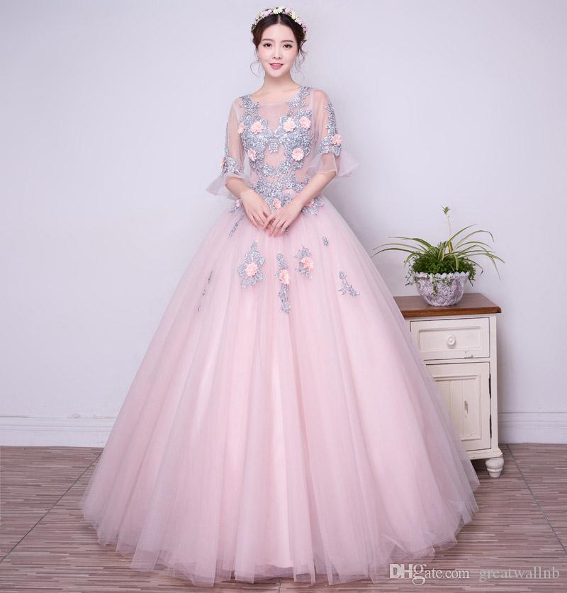 100 Real Flower Embroidery Lace Luxury Ball Gown Medieval