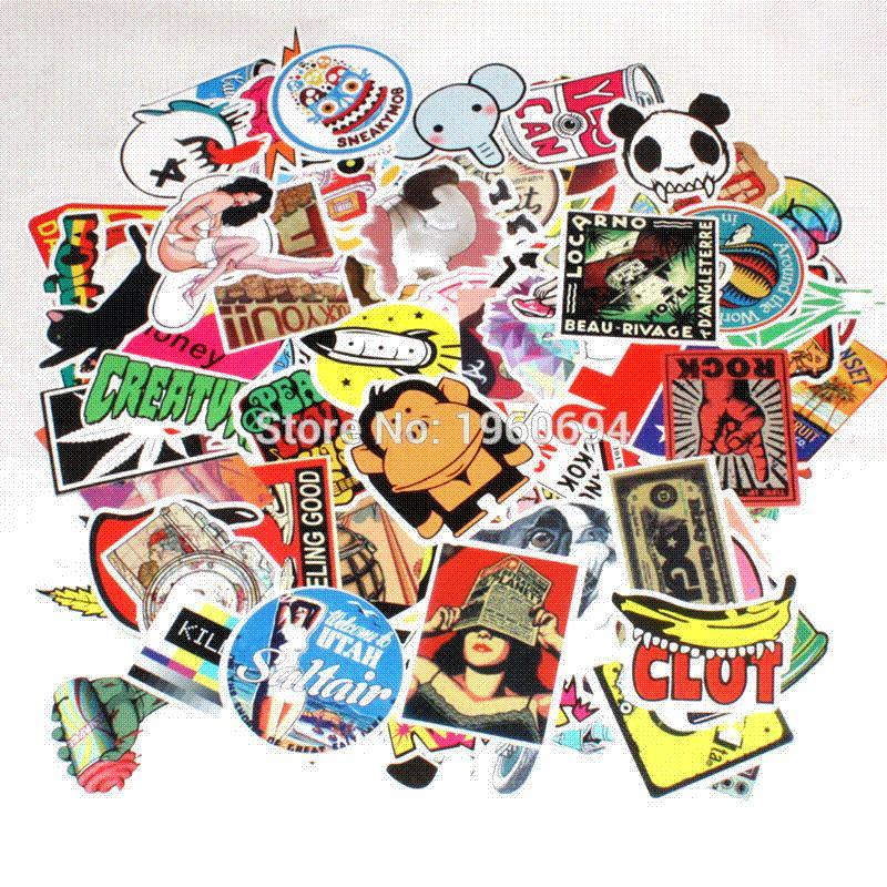 Aufkleber Das Beste 100 Pcs Cartoon Graffiti Stil Aufkleber Für Auto Fahrrad Motorrad Telefon Laptop Reise Gepäck Coole Lustige Aufkleber Bombe Jdm Decals