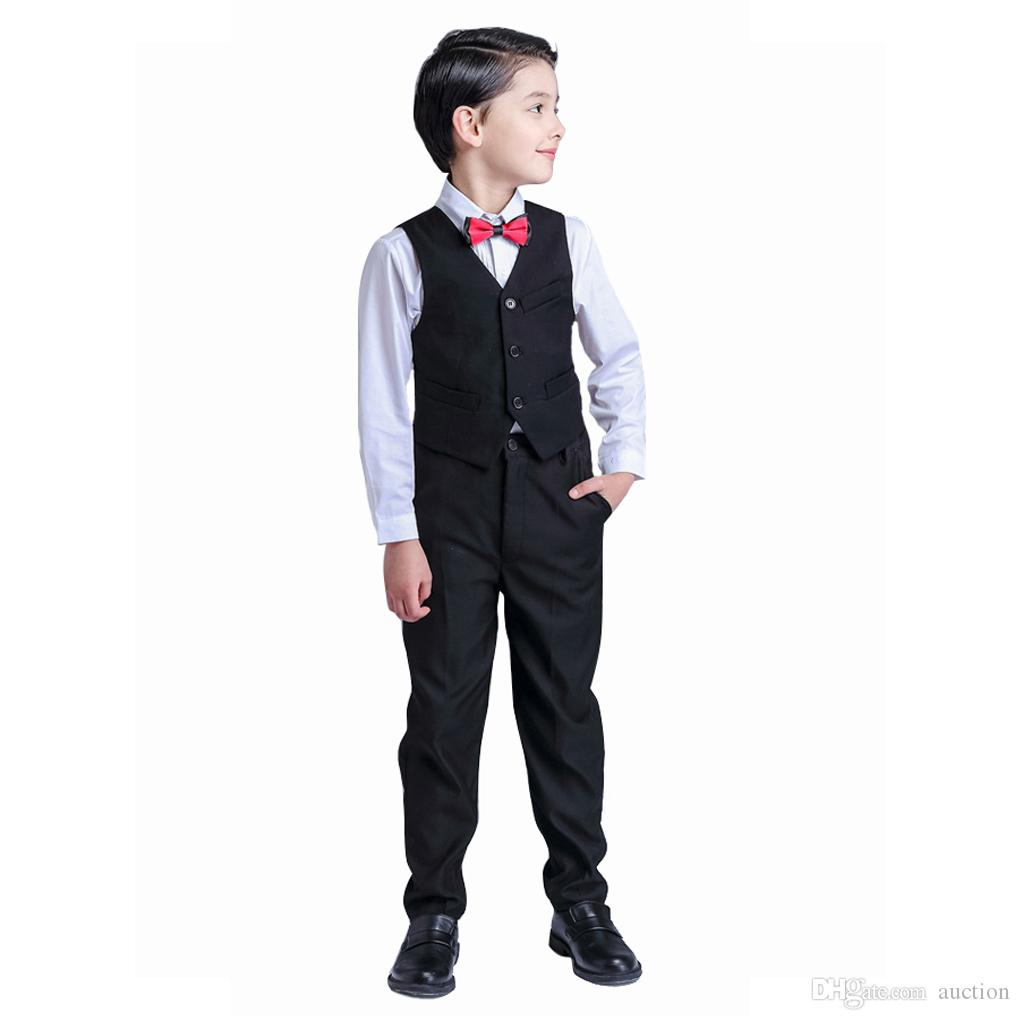 c55a774a45a Baby Kids Toddler Boys Clothes Slim Fit Dresswear Wedding Party Outfit Sets  Christening Coat Suit Wedding Kids Outfit Dress Suits for Boys Boys Suits  Online ...