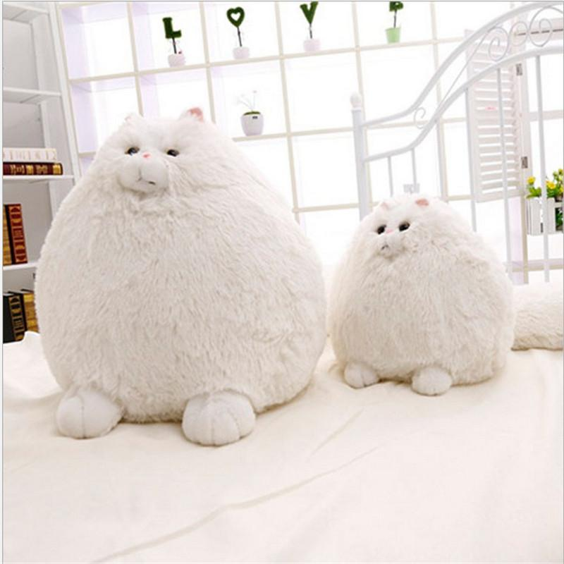 2019 Kawaii Persian Cat Plush Toys White Long Tail Plush Doll Toy