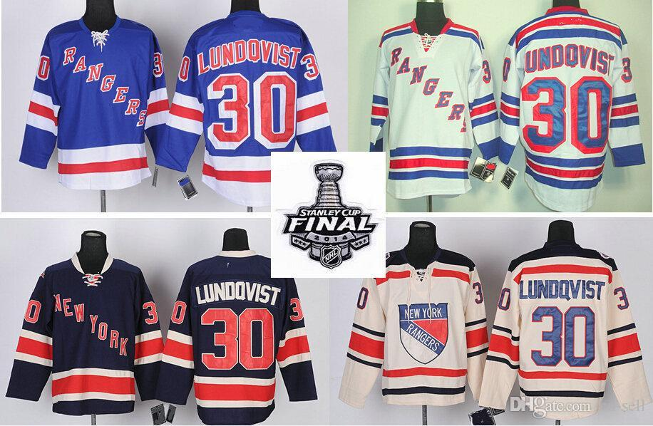 0a1fc7de3 2019 #30 Henrik Lundqvist Jersey Cheap New York Rangers Ice Hockey Jerseys  Blue White Color Wholesale Stitched Logos From Cn Sell, $26.8   DHgate.Com