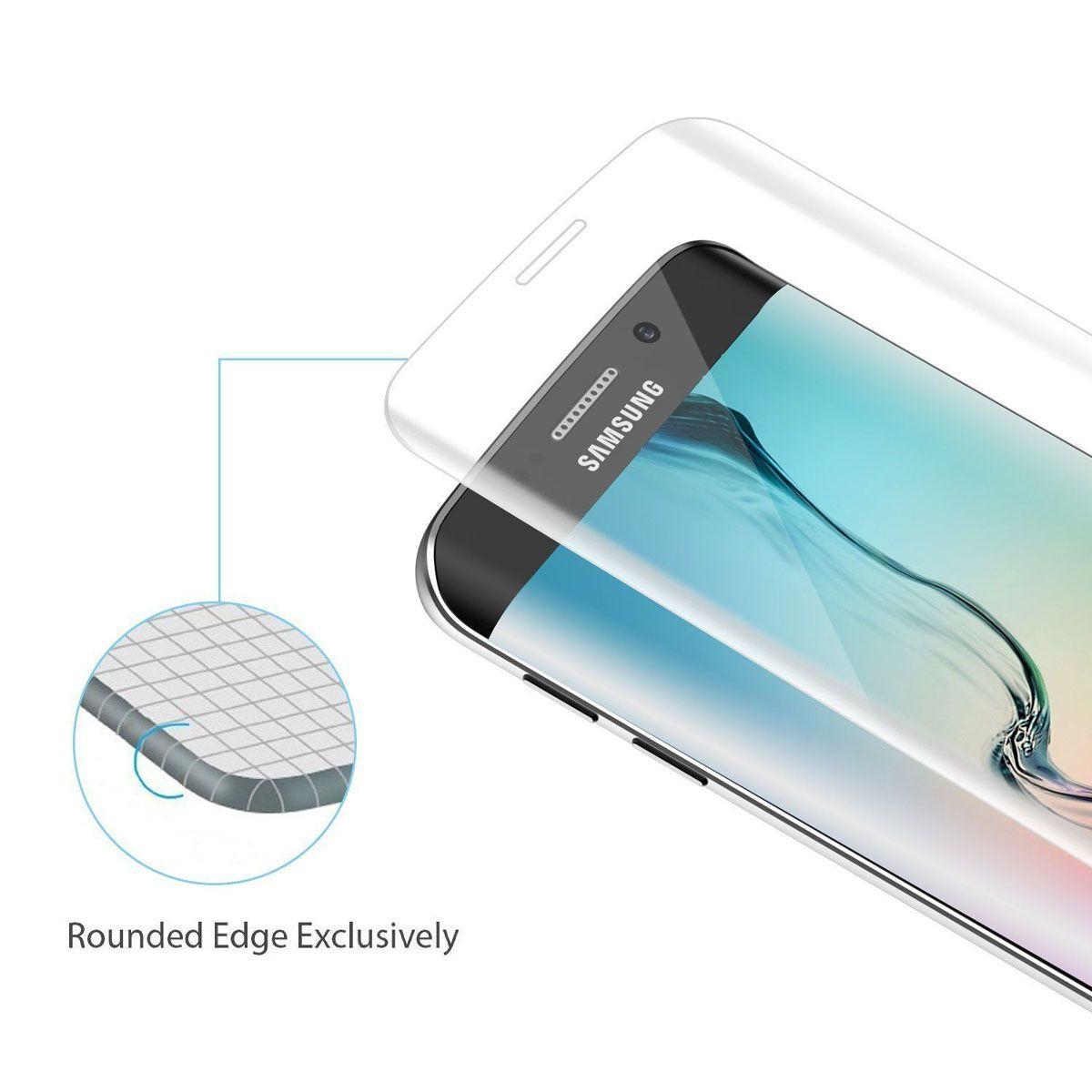 3D изогнутый полный охват прозрачный внешний экран протектор пленка закаленное стекло для Samsung Galaxy S6 Edge