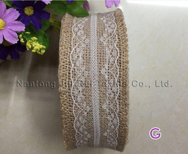 2016 Hotsale 5 см W * 10 м / рулон DIY рождественские свадебные украшения кружева льняные объемы бутон шелковые ткани из льна