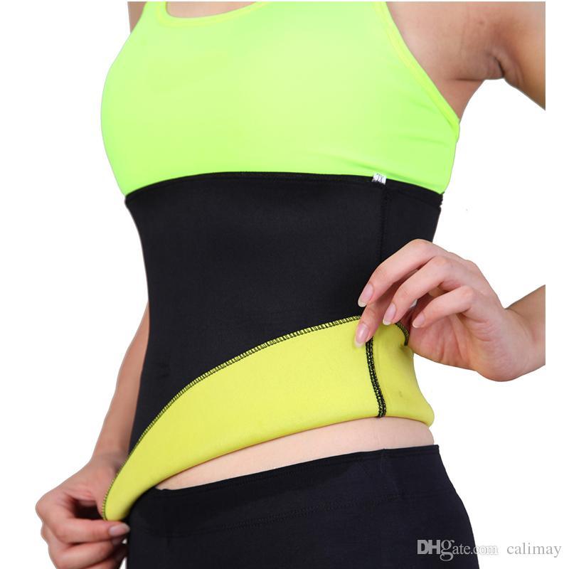 5d24dfe36e22c Sweat Belt Body Shaper Slimming Belts For Women Waist Trainer Cincher  Underbust Corset Trimmer Tummy Control Binder Best Waist Slimming Belt Body  Slim Belt ...