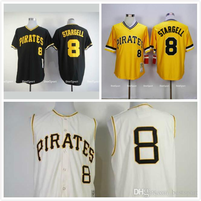 big sale 12012 54fae pittsburgh pirates 8 willie stargell yellow throwback jersey