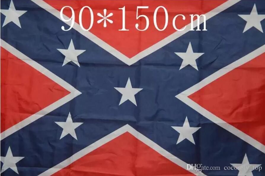 Die Wahrheit über die Konföderierten Schlacht Flags Zwei Seiten Printed Flag Konföderierten Rebel Bürgerkrieg Flagge Amerika National Polyester Fahnen