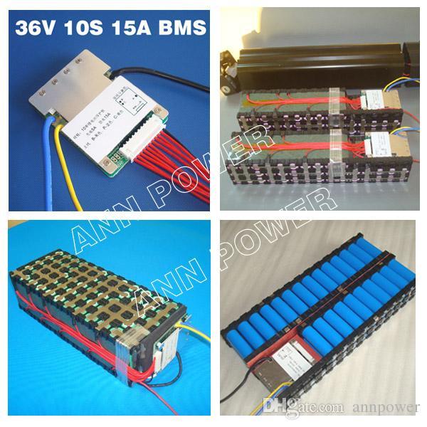 10 s 36 V 15A lithium-batterie BMS PCM für 36 v 8ah 10ah 12ah und 15ah akku 37 v BMS PCM mit balance-funktion