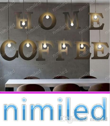 nimi1059 Nordic Loft Minimalist DIY 26 Letters Pendant Lamp Lights Lighting For Clothing Store Bar Restaurant Balcony Study Chandelier