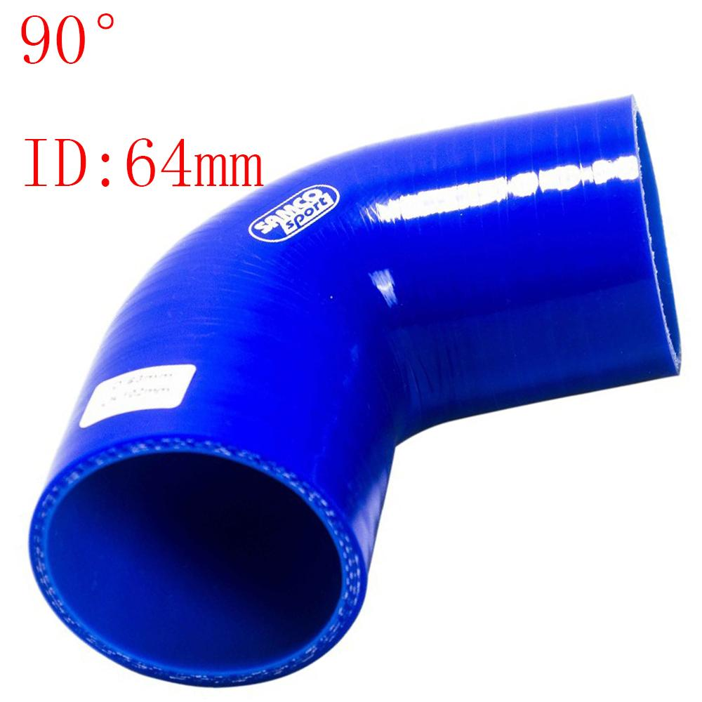 """Universal ID:2.5"""" ID:64mm Silicone 3Ply Straight Silicone Hose Intercooler Coupler Tube Pipe 90degree straight silicone tube hump hose"""