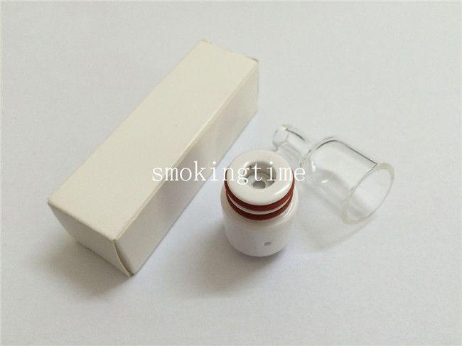 Newest 510 wax vape pen atomizer e cigarette glass globe cover tank for box mod pi2 rda wax atomizer ceramic donut wickless wax attachment