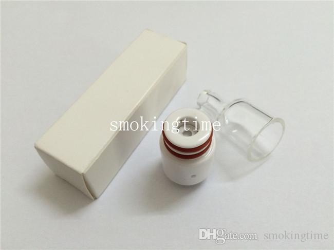 pi2 rda wax atomizer ceramic donut wickless wax attachment 510 wax vape pen atomizer e cigarette glass globe cover tank for box mod
