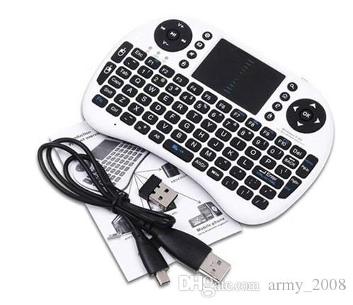 Air Mouse Combo Mini i8 Teclado inalámbrico, Touchpad con adaptador de interfaz para PC Pad Google Andriod TV Box Xbox360