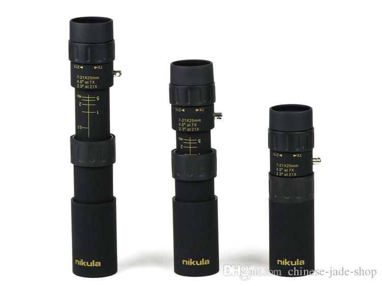 Original binoculars Nikula 10-30x25 Zoom Monocular high quality Telescope Pocket Binoculo Hunting Optical Prism Scope no tripod