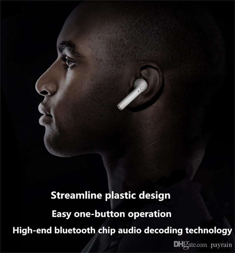 2018 Best Wholesale Sales Earphone I7 Mini Bluetooth Single Wireless Invisible Headphone Headset with CSR4.1 Stereo Blurtooth Earphone