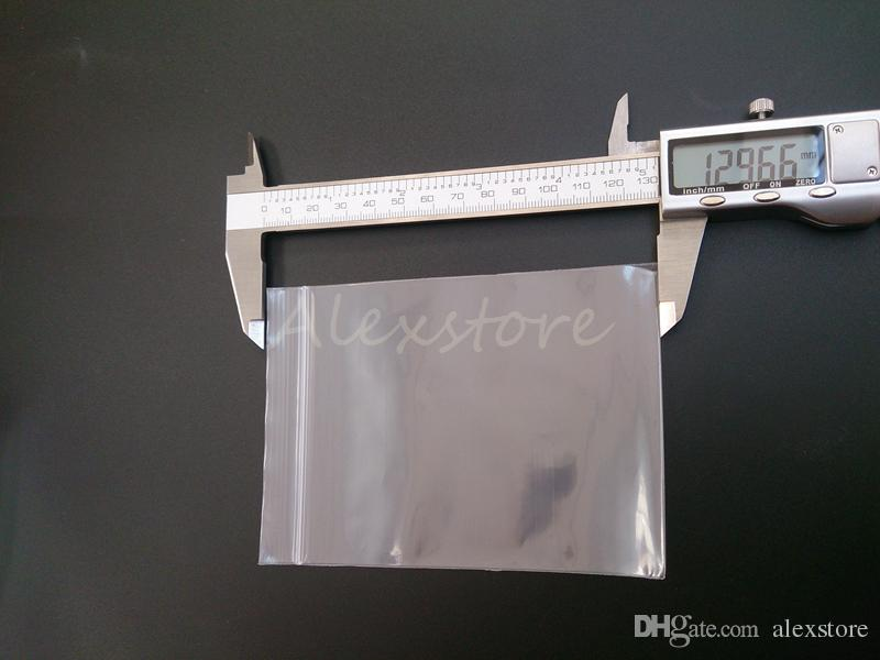 Abdichtung PP PE Polypropylen Durchsichtige Plastiktüten 129 * 93mm15 Drahtsack mit Reißverschluss Heißsiegel für Baumwollbehälter / DHL