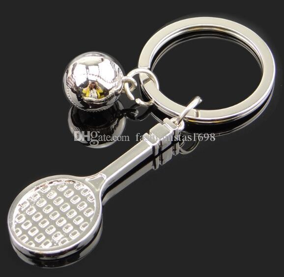 Creative football sneakers key chain Bowling Golf Badminton key chain World Cup football gift key ring