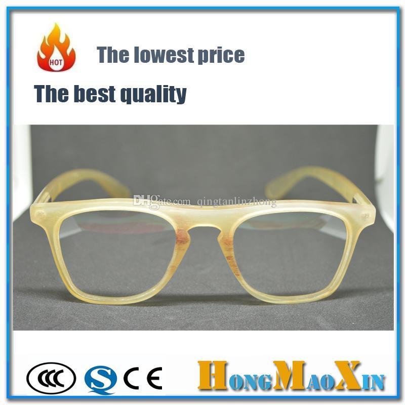 Wholasale 100% Real Buffalo Horn Yellow Frame Glasses Custom ...