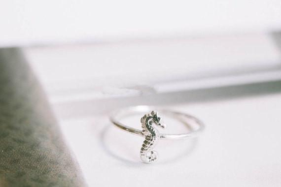 Mode 18k Plaqué Or Mignon Animal Hippocampe Anneaux Mignon Femmes Ringen Anillos Hombre En Gros Livraison Gratuite