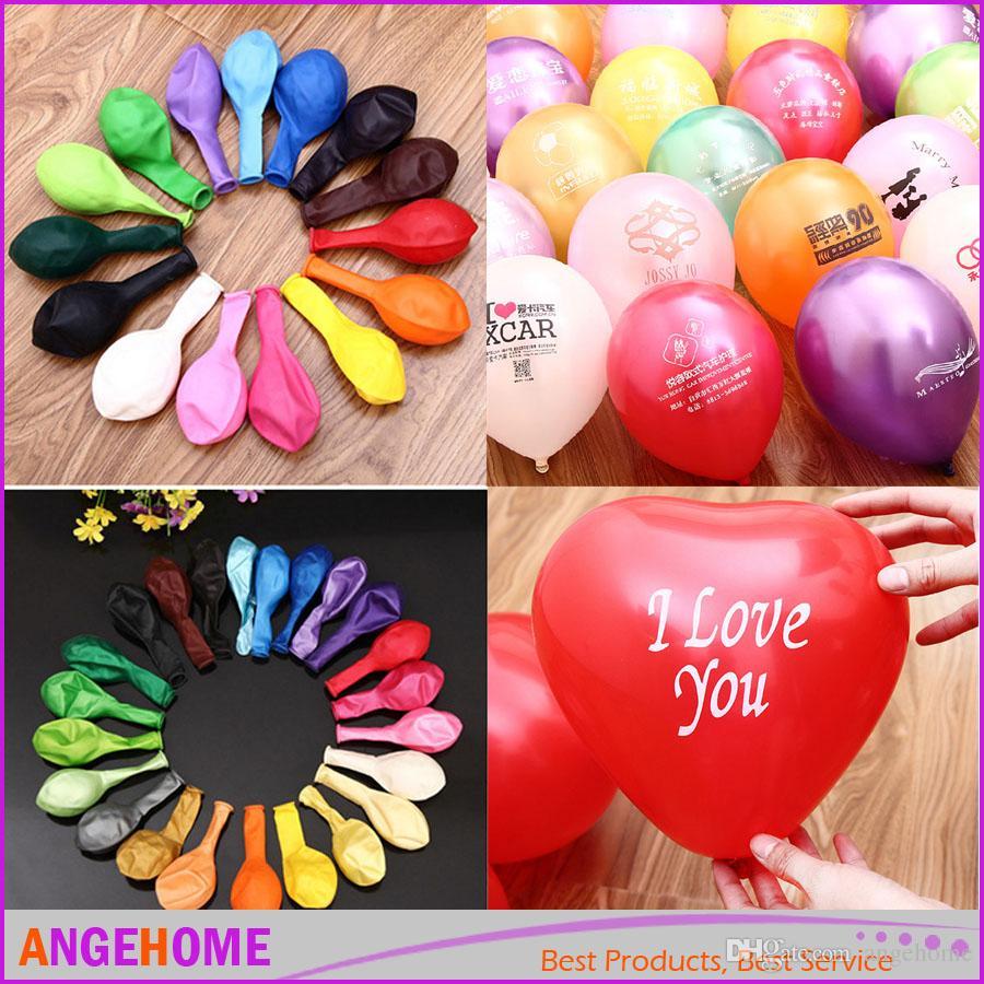 Wholesale Custom Pattern Logo Advertising Balloons Latex Party Decorations Spiral Supplies Wedding Balloon Pack Online Birthday