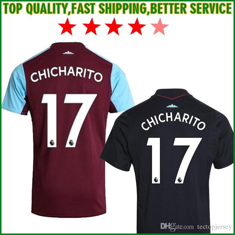 7d8e1f28776 Top Thai Quality 2018 West Ham United CHICHARITO Soccer Jersey ...