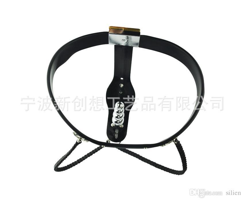 Dispositivo castità femminile in acciaio inossidabile Dispositivo di ritenuta cintura di castità Model-T regolabile SM Bondage con pantaloni castità anale con spina vaginale