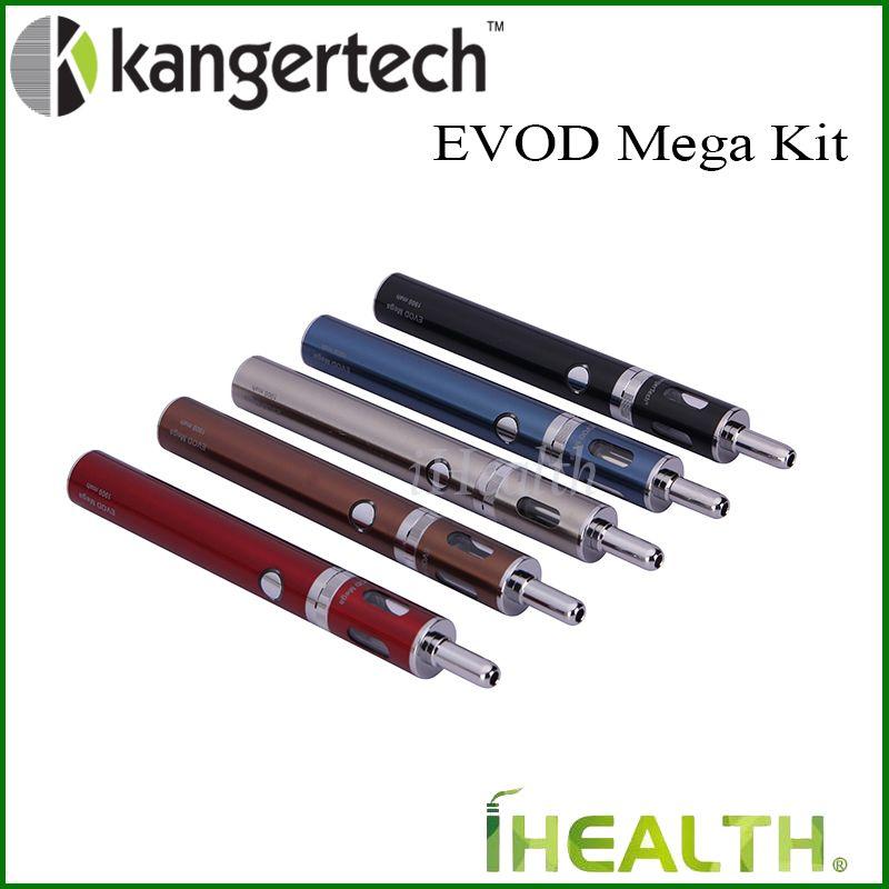 100% original! KANGER EVOD Mega Kit de démarreur de 2,5 ml Capacité d'atomiseur avec une batterie rechargeable de 1900mAh avec kanger double bobines en stock