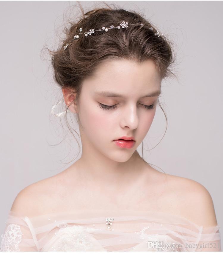 Fasce capelli da sposa barocco fatti a mano copricapo stile coreano copricapo da sposa damigella d'onore corona 2019 accessori capelli corona di cristallo di lusso nuovo