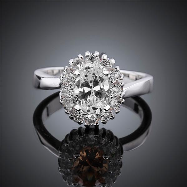 Brand new 925 silver Sunflower Gem Ring GSSR649 Factory direct sale brand new fashion sterling silver finger ring