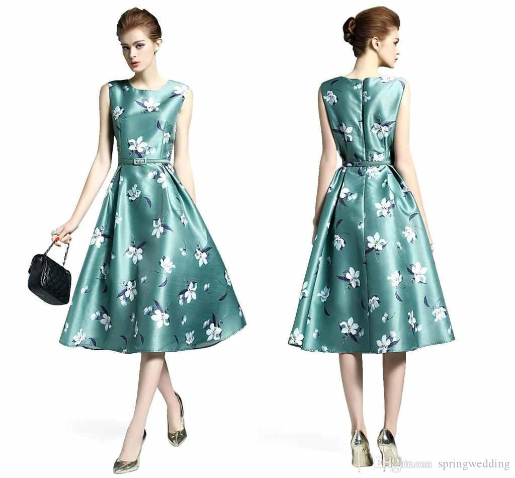 2017 Summer Fashion Vintage Women Casual Dresses Cheap China Print ...