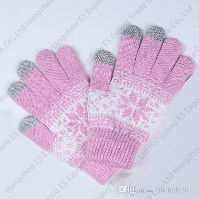 Guanti invernali touch screen Guanti a cinque dita in maglia lavorati a maglia stile unisex i morbidi e caldi