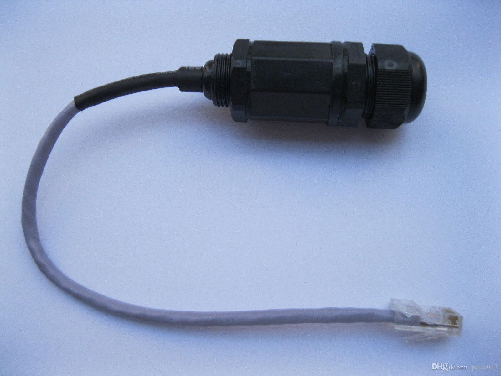 Разъем LAN M20 локальных сетей RJ45 водоустойчивый с кабелем 20cm