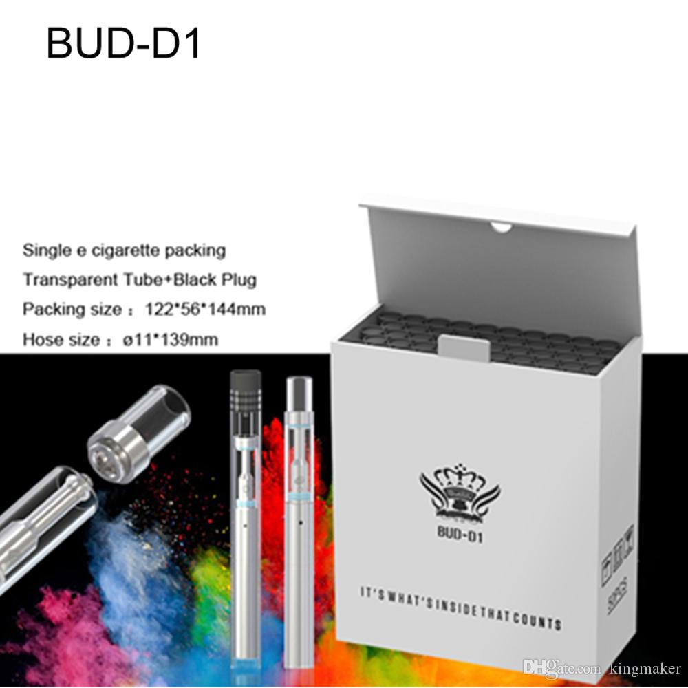 E cig starter kits disposable bud d1 pyrex Glass tank 510 Cartridge Ceramic BVC atomizer Thick oil Vaporizer 310mah Battery vape pens kit