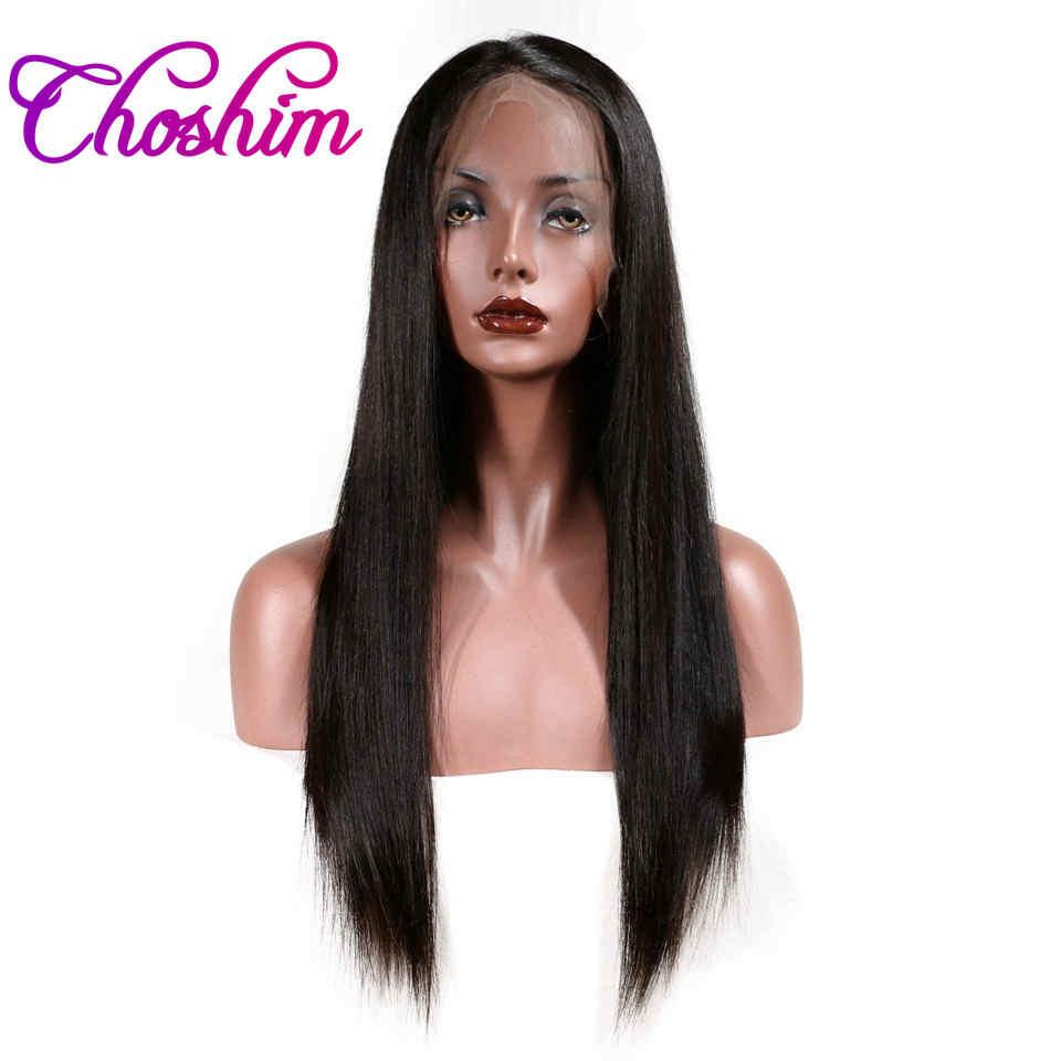 Choshim Slove Hair 360 Lace Frontal Wigs For Black Women 150% Density Pre  Plucked Brazilian Straight Human Hair Wigs Remy Hair 360 Lace Frontal Wigs  360 ... 7267777c7dc1