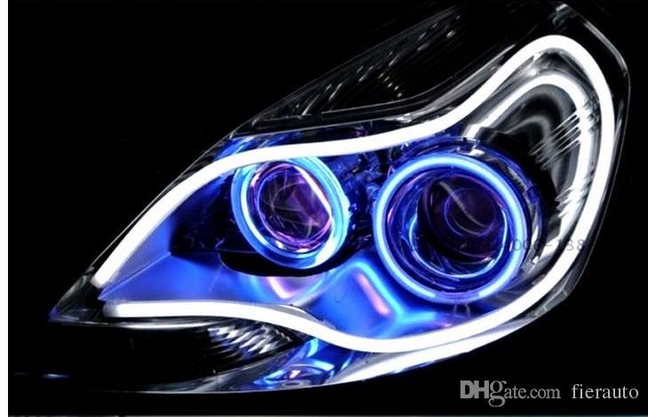100 Paare 30 cm Flexible LED-Rohrstreifen Weiß Auto-Styling Weiche Tagfahrlicht DRL-Scheinwerfer Universal-Auto-Lichter