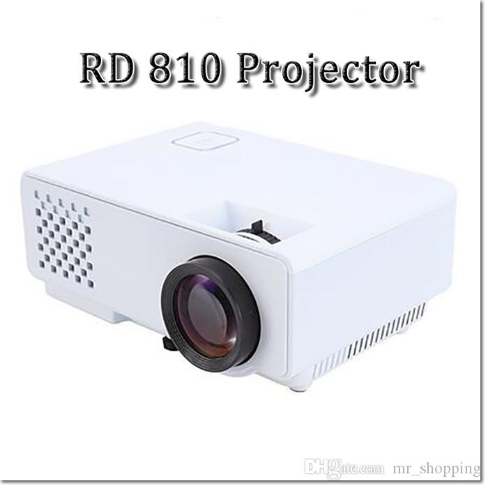 RD-810 1080P HD LED Cinema Home Theater Projector 3D AV USB SD VGA HDMI  1500:1 contrast ratio LCD Projector
