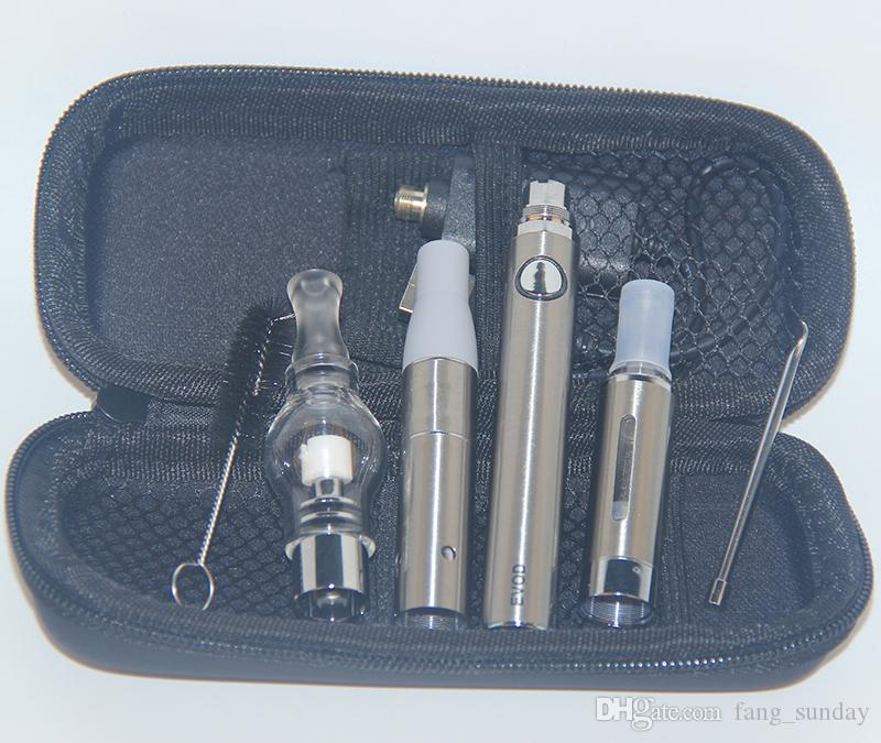 3in1 Vaporizer eVod Ecigs AGO G5 Dry Herb MT3 Eliquid Atomizer 3in 1 Vape Pen Wax Glass Globe 3 in 1 Vapor Kits