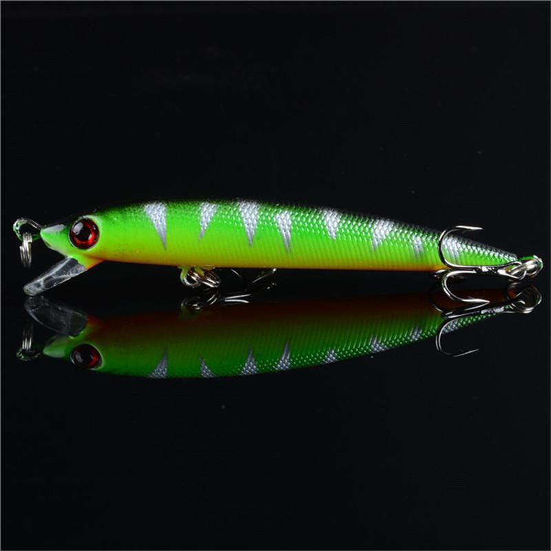 Juego de cebo biónico pintado en verde de 14 piezas Kit de pesca con mosca de plástico ABS Minnow VIB Popper Rattlin Manivela Lápiz Ganchos de señuelo artificial