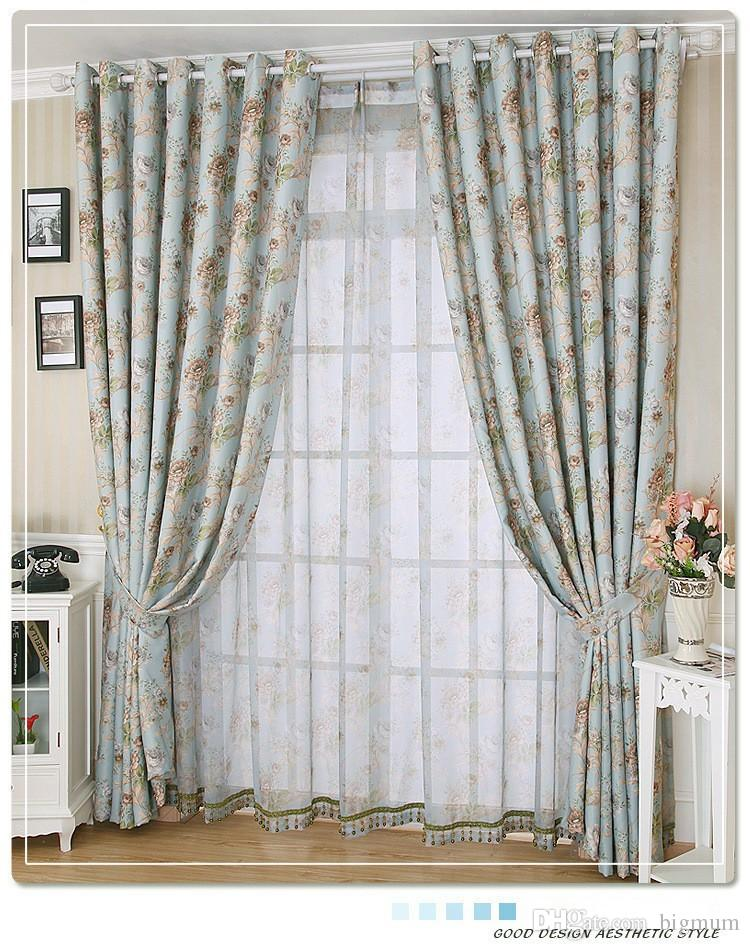 2019 Rustic Window Curtains For Living Room/ Bedroom Floral Blackout  Curtain Window Treatment /Drapes Home Decor Blue From Bigmum, $15.89 |  DHgate.Com